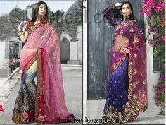 Bridal Sarees 2012  Silk SareesSaris  Indian Designer Saree Blouse Styles izandrew blogspot com  3