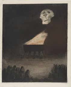 Alfred Kubin. Untitled (The Eternal Flame) (Ohne Titel [Die ewige Flamme]). (c. 1900)