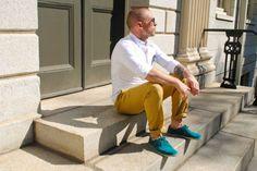 Streetsnaps: Mustard Yellow Trousers