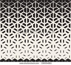 Vector Seamless Black and White Hexagon Triangle Split Lines Halftone  Gradient Pattern Abstract Background. Design PatternsGeometric ...