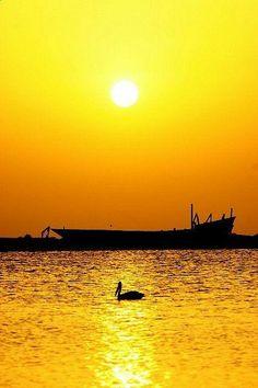 ᎧɱᏰཞε єԵ ᏝųɱįèяᏋ (Sunset on the red sea in Tihama Yemen ©Eric Lafforgue) Beautiful Sunset, Beautiful World, Beautiful Places, Beautiful Pictures, Nature Landscape, Jaune Orange, Amazing Sunsets, Yellow Submarine, Mellow Yellow