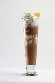 Tiramisu Shake - Ingredients:  2 oz espresso or strongly brewed coffee, 5 oz milk, 3 scoops vanilla ice cream, 1 tbsp Mascarpone or cream cheese, cocoa for dusting, whipped cream to taste