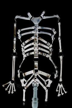 """"""" Zana Bane skeleton body harness """" Hair Jewelry, Body Jewelry, Fashion Jewelry, Halloween Stuff, Happy Halloween, Burlesque, Banshee Queen, Skeleton Body, Costume Ideas"""
