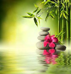 Spa Stones In Garden With Flow Water Acheter Cette Photo Libre De Droit Et Decouvrir Des Images Similaires Sur Adobe St Paysage Asiatique Paysage Zen Art Zen