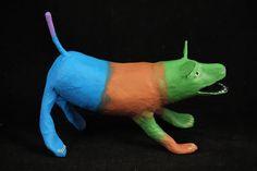 Paper Mache Dog Mexican Artist Javier Bobadilla #3