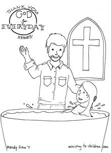 Everyday Heroes Coloring Page With Pastor