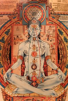 Very inspiring picture of Chakras and Sri Yantra / Sacred Geometry <3