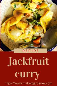 Jackfruit curry home cook recipe using green curry paste. The is vegan friendly and gluten free recipe. #jackfruitcurry