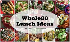 Let's do lunch...Whole 30 style!    Lunch was one of my favorite meals during Whole 30. Because I was making it just for me (not Andy and the kids) and I
