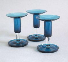 Nanny Still Harlekiini Candle Stick Riihimaen Lasi Finland signed Art Glass Glass Design, Design Art, Candlesticks, Be Still, Finland, Modern Contemporary, Glass Art, Retro Vintage, Candle Holders