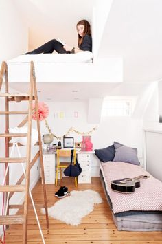 mommo design: LOFT BEDS b La touche d'Agathe - Children, child, room, bed, chambre , lit, playroom, salle de jeux, boy girl adolescent teen teenager deco teenager