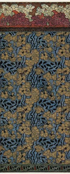 Wallpaper design and frieze by Otto Eckmann, produced in 1899.