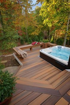 The History of Jacuzzi Outdoor Refuted Some Jacuzzi bathtubs have the capacity to run even when there's no water in the tub. Deciding upon a Jacuzzi bathtub on a normal bathtub has its benefits and disadvantages. Hot Tub Gazebo, Hot Tub Backyard, Backyard Patio, Jacuzzi Outdoor, Outdoor Spa, Outdoor Ideas, Jacuzzi Patio Ideas, Gazebo Ideas, Whirlpool Deck