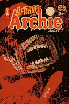 Afterlife with Archie Comics cover by Francesco Francavilla Horror Comics, Horror Art, Comic Book Covers, Comic Books Art, Archie's Weird Mysteries, Afterlife With Archie, Archie Jughead, Halloween Books, Motorcycle Art