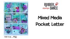 (132) Mixed Media Pocket Letter I DT RUBBER DANCE