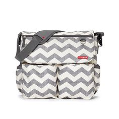 Skip Hop Dash Signature Diaper Bag - Chevron: Dash sports a hip, city style and great functionality. With 11 roomy pockets, there is space for everything baby needs, and Canada Vancouver, Best Diaper Bag, Diaper Bags, Baby Bags, Stroller Bag, Baby Necessities, Baby Essentials, Baby Center, Baby Needs