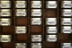 Store spices , printers type case and containers #DIY #kitchen #storage