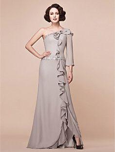 DONATIENNE - Vestido de Madrina de Gasa y Satén – USD $ 149.99