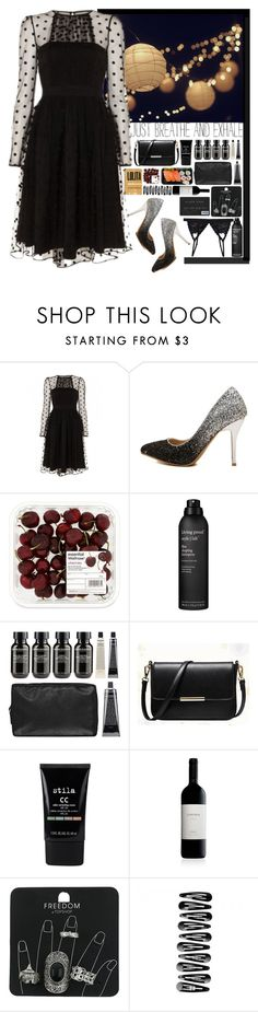 """""""In The Dark"""" by aguniaaa ❤ liked on Polyvore featuring Living Proof, Grown Alchemist, BeiBaoBao, Stila, Topshop and Cosabella"""