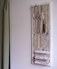 How to make a jewelry board. Bought a frame, now I just need to finish it!