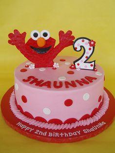 Little Girl Elmo Birthday Cake by CakesUniqueByAmy.com, via Flickr
