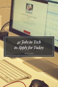 #Tech jobs to apply for NOW! #JobSearch www.levo.com