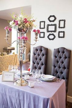 Sweetheart Table Option with Florals by Etc Designs and photos from Mallory Miya Photography at out Grand Opening Party!