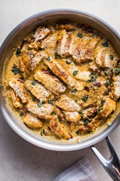 This creamy sun-dried tomato and basil chicken pasta is fast, easy to make, and full of flavor! A classic comfort food recipe.