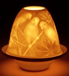 """I saw several of these Lladro lamps in a """"high end"""" store on one of my travels and was wondering if everyone knew about them. Candle Lamp, Votive Candle Holders, Glass Candle, Glass Art, Candleholders, Xmas Lights, Fairy Lights, Fairy Lamp, Bottle Lights"""