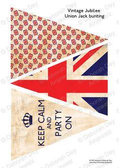 Digital Download  Vintage Jubilee Union Jack Bunting by Ainjewelz, £3.50