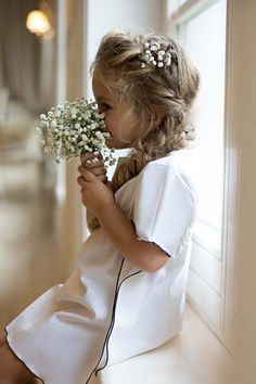 The leading children's fashion & family lifestyle magazine you need to read! Flower Girl Hairstyles, Wedding Hairstyles, Urban Hairstyles, Wedding Pics, Wedding Dresses, Girls Dresses, Flower Girl Dresses, Flower Girls, Kids Branding