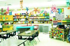 elementary art education setting up the room art classroom design