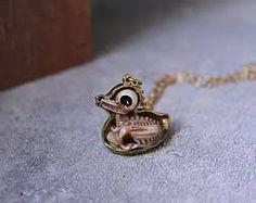 Duck skull pendant