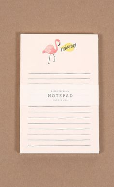Rifle Paper - Stationary - Rifle Paper Co. Notepad Flamingo - Cheeky Peach Boutique - 1
