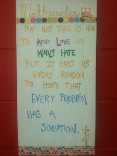 Math quote for classroom