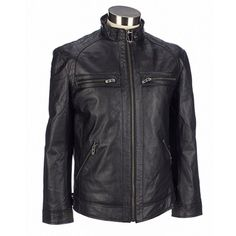 This leather motorcycle jacket is fashionable AND cool. #leather #moto #jacket #coat #motojacket #burlington #whatstylesays #fashion #burlingtonstyle #mens