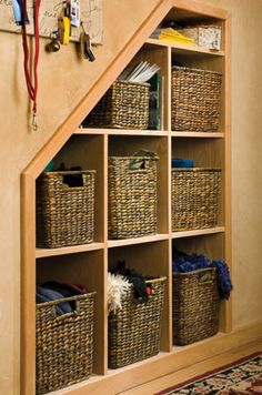 this version is nice too but maybe not as practical as having shelves with doors to hide it all.