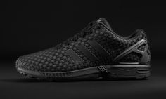 "Foot Locker Partners with adidas Originals and Nike to Release an Exclusive ""Triple Black"" Collection • Highsnobiety  Black background, black product"