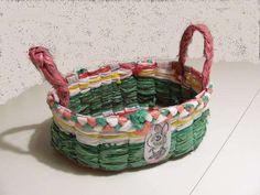 diy plastic bag easter basket..