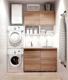 Best 20 Laundry Room Makeovers - Organization and Home Decor Laundry room decor Small laundry room organization Laundry closet ideas Laundry room storage Stackable washer dryer laundry room Small laundry room makeover A Budget Sink Load Clothes Modern Laundry Rooms, Laundry In Bathroom, Basement Laundry, Laundry Area, Laundry Room Small, Bathroom Small, Bathroom Modern, Ikea Laundry Room, Laundry Closet