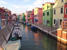 Venice's quiet island of Burano is a great place to visit in the evenings or mornings. The colorful fishermen's houses provide a great backdrop for a run!