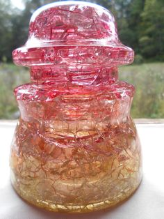 Antique Crackled Glass Insulator Whitall Tatum- ok, I pinned this one just cause it was so pretty!!