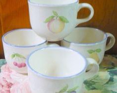 ON SALE 9 - Pfaltzgraff - Hopscotch - Coffee Cups - EUC - See Description