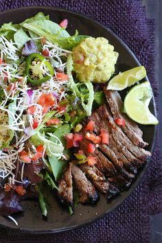 This Carne Asada steak salad is made with everything I love – juicy steak, pico de gallo, Monterey Jack cheese and guacamole. Inspired by my favorite taco salad, it's quick, tasty, low-carb and high in protein which fills you up and leaves you satisfied.