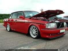 Volvo 240 Turbo, nicely modified.