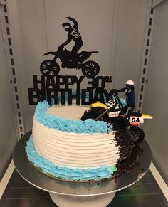 Motorcross PERSONALISED A4 ICING Edible Cake Topper Sports Racing Boys Men Bike
