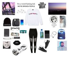 """Idk"" by kaiden-slytherin ❤ liked on Polyvore featuring River Island, Wet Seal, Burberry, Chapstick, Miss Selfridge, adidas NEO, JanSport, Warner Bros., WALL and Lime Crime"