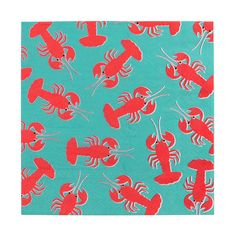 Super cute lobster napkins, designed by My Little Day. These napkins are perfect for an aquatic or mermaid-themed birthday, a family BBQ or a garden party with friends! Size: x Please note: the napkins are only printed on one side. Contains 20 napkins.
