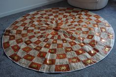 Real Leather Skin Round Tribal Mat/Rug by TrybLife on Etsy