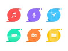 Colorfully icons by Victor_hong #Design Popular #Dribbble #shots